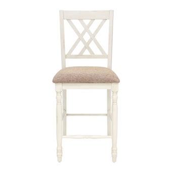 เก้าอี้ทานอาหาร เก้าอี้ไม้เบาะผ้า รุ่น Lonicสีน้ำตาล-SB Design Square
