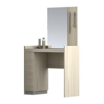 ชุดห้องนอน โต๊ะเครื่องแป้งแบบนั่ง รุ่น Econi สีสีโอ๊คอ่อน-SB Design Square