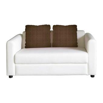 โซฟาหนังสังเคราะห์ โซฟา 2 ที่นั่ง รุ่น Tappe สีสีขาว-SB Design Square