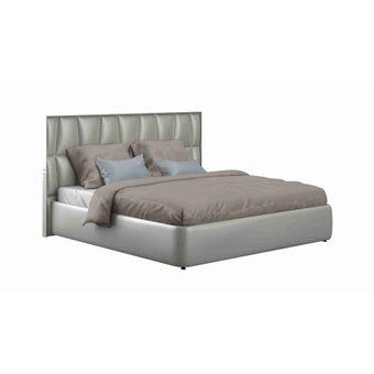 เตียงนอน ขนาด 6 ฟุต รุ่น Concerto-s สีเงินมุก