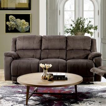 เก้าอี้พักผ่อนผ้า 3 ที่นั่ง รุ่น Panto สีน้ำตาลเข้ม-01