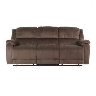 เก้าอี้พักผ่อนผ้า เก้าอี้พักผ่อน 3 ที่นั่ง รุ่น Panto สีสีน้ำตาล-SB Design Square
