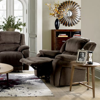 เก้าอี้พักผ่อนผ้า 1 ที่นั่ง รุ่น Panto สีน้ำตาลเข้ม-08