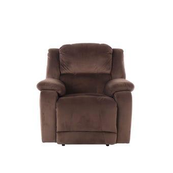 เก้าอี้พักผ่อนผ้า เก้าอี้พักผ่อน 1 ที่นั่ง รุ่น Panto สีสีน้ำตาล-SB Design Square