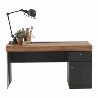 เฟอร์นิเจอร์สำนักงาน โต๊ะทำงาน รุ่น Ralphs สีสีน้ำตาล-SB Design Square