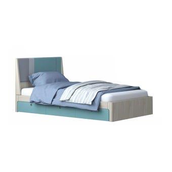 ชุดห้องนอนเด็ก เตียง รุ่น Kidzio สีสีโอ๊คอ่อน-SB Design Square