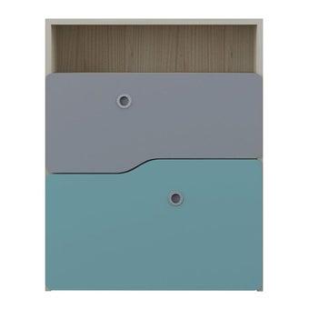 ชุดห้องนอนเด็ก ตู้เตี้ยลิ้นชัก รุ่น Kidzio สีสีโอ๊คอ่อน-SB Design Square