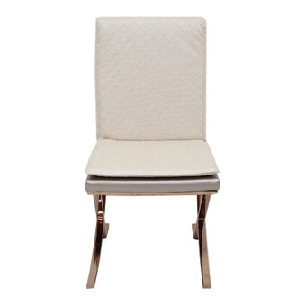 เก้าอี้ทานอาหาร เก้าอี้เหล็กเบาะหนัง รุ่น Waferสีน้ำตาล-SB Design Square