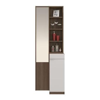 ชุดห้องนอน โต๊ะเครื่องแป้งแบบยืน รุ่น Glaze สีสีลายไม้ธรรมชาติ-SB Design Square