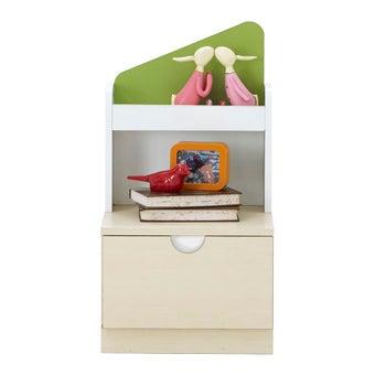 ชุดห้องนอนเด็ก ตู้ข้างเตียง รุ่น Arty สีสีลายไม้ธรรมชาติ-SB Design Square