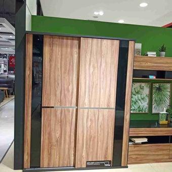 ชุดห้องนอน ตู้เสื้อผ้าบานเปิด รุ่น Rex สีสีเทา-SB Design Square