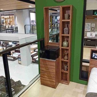 ชุดห้องนอน โต๊ะเครื่องแป้งแบบยืน รุ่น Pathenoz สีสีน้ำตาล-SB Design Square