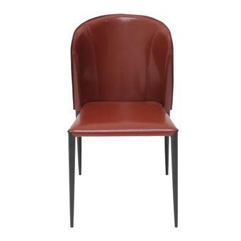 เก้าอี้ทานอาหาร เก้าอี้เหล็กเบาะหนัง รุ่น Taris สีสีดำ-SB Design Square