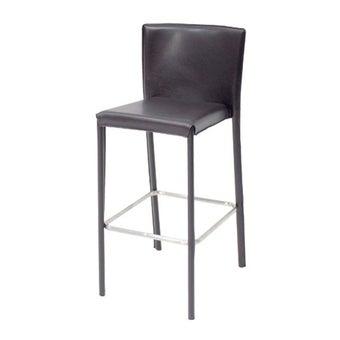 เก้าอี้ทานอาหาร เก้าอี้สตูลบาร์เหล็กเบาะหนัง รุ่น Yaimai สีสีน้ำตาล-SB Design Square