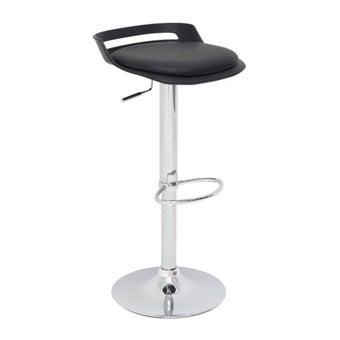 เก้าอี้ทานอาหาร เก้าอี้สตูลบาร์เหล็กเบาะหนัง รุ่น Love สีสีดำ-SB Design Square