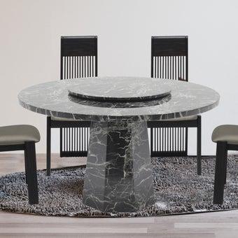 โต๊ะทานอาหาร โต๊ะอาหารหินล้วน รุ่น Flacio สีสีดำ-SB Design Square