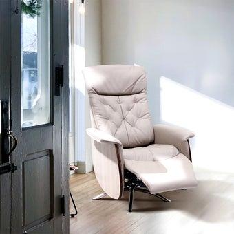 เก้าอี้พักผ่อน ขนาดเล็กกว่า 1.8 ม. รุ่น Canura สีครีม 08