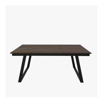 โต๊ะทานอาหาร โต๊ะอาหารขาเหล็กท๊อปไม้ รุ่น Fina-SB Design Square