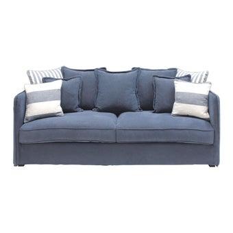 โซฟาผ้า โซฟา 3 ที่นั่ง รุ่น T-Sea สีสีฟ้า-SB Design Square