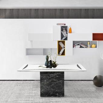 โต๊ะทานอาหาร โต๊ะอาหารหินล้วน รุ่น Fazo สีสีขาว-SB Design Square