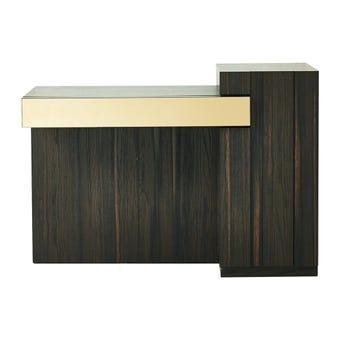 ชุดห้องนอน โต๊ะเครื่องแป้งแบบนั่ง รุ่น Rovetro สีสีเข้มลายไม้ธรรมชาติ-SB Design Square