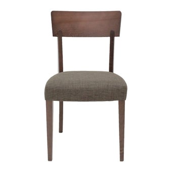 เก้าอี้ทานอาหาร เก้าอี้ไม้เบาะผ้า รุ่น Enland สีสีลายไม้ธรรมชาติ-SB Design Square