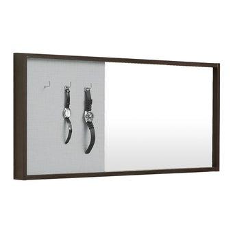 กระจกแขวน ขนาด 100 ซม. รุ่น Hewka สีไม้เข้ม-00