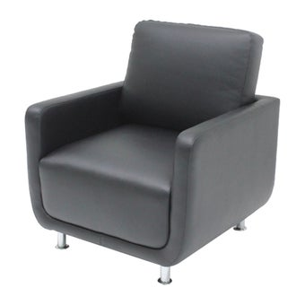 โซฟาหนังสังเคราะห์ โซฟา 1 ที่นั่ง รุ่น Kappa สีสีดำ-SB Design Square