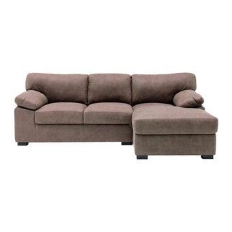 โซฟาผ้า โซฟาเข้ามุมขวา รุ่น Kenci สีสีน้ำตาล-SB Design Square
