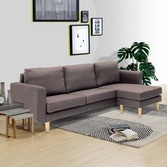 โซฟาผ้า โซฟาเข้ามุมสลับด้านได้ซ้าย/ขวา รุ่น Ansen สีสีน้ำตาล-SB Design Square