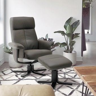 เก้าอี้พักผ่อน ขนาดเล็กกว่า 1.8 ม. รุ่น Camber สีน้ำตาล 08