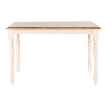 โต๊ะทานอาหาร โต๊ะอาหารไม้ล้วน รุ่น Limitสีน้ำตาล-SB Design Square