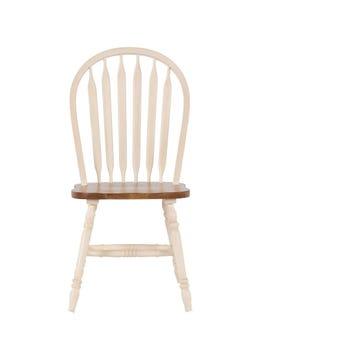 เก้าอี้ทานอาหาร เก้าอี้ไม้ล้วน รุ่น Limitสีน้ำตาล-SB Design Square