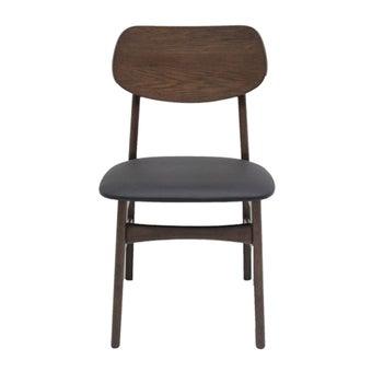 เก้าอี้ทานอาหาร เก้าอี้ไม้เบาะหนัง รุ่น Moko-SB Design Square