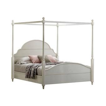 เตียงนอน ขนาด 6 ฟุต รุ่น Carnival สีขาว