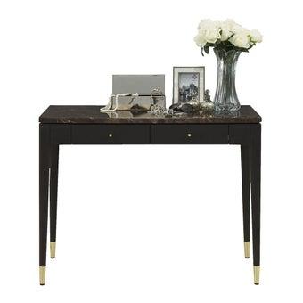 ชุดห้องนอน โต๊ะเครื่องแป้งแบบยืน รุ่น Michala สีสีเข้มลายไม้ธรรมชาติ-SB Design Square