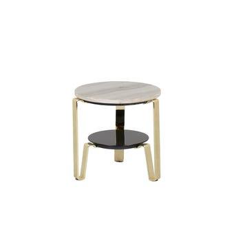 โต๊ะข้าง รุ่น Heztiara สีทอง