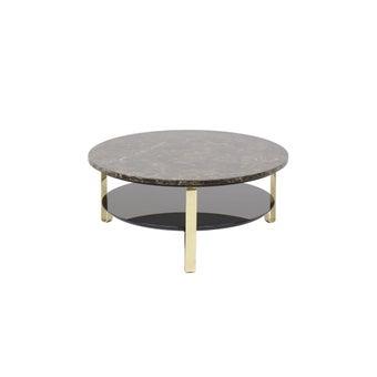 โต๊ะกลาง โต๊ะกลางเหล็กท๊อปหิน รุ่น Heztiara สีสีทอง-SB Design Square