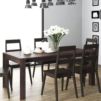 โต๊ะอาหาร รุ่น Nilly สีเข้มลายไม้ธรรมชาติ3