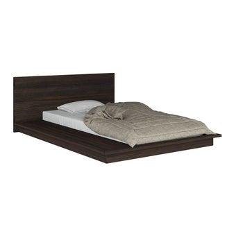 ชุดห้องนอน เตียง รุ่น Zen สีสีเข้มลายไม้ธรรมชาติ-SB Design Square