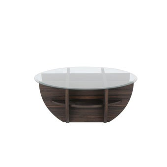 โต๊ะกลาง ขนาด 100 ซม. รุ่น Waffle สีเข้มลายไม้ธรรมชาติ-04