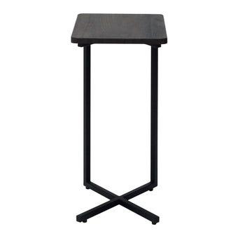 โต๊ะข้าง โต๊ะข้างเหล็กท๊อปไม้ รุ่น Monic สีสีเข้มลายไม้ธรรมชาติ-SB Design Square