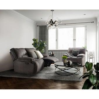 เก้าอี้พักผ่อนผ้า 3 ที่นั่ง รุ่น Medina สีเทาดำ-01