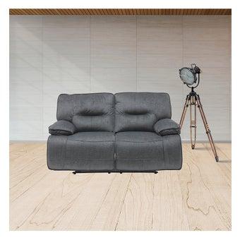 เก้าอี้พักผ่อนผ้า 2 ที่นั่ง รุ่น Medina สีเทาดำ-01