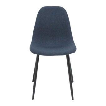 เก้าอี้ทานอาหาร เก้าอี้เหล็กเบาะผ้า รุ่น Anda สีสีฟ้า-SB Design Square