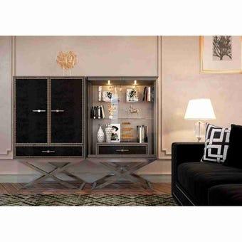 ห้องรับแขก ตู้โชว์ รุ่น Rhine สีสีเทา-SB Design Square