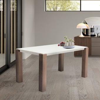 โต๊ะทานอาหาร โต๊ะอาหารขาไม้ท๊อปหิน รุ่น Edward สีสีขาว-SB Design Square