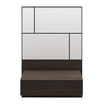 ชุดห้องนอน ตู้ข้างเตียง รุ่น Palazzo สีสีเข้มลายไม้ธรรมชาติ-SB Design Square
