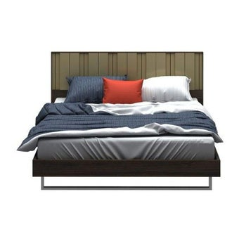 ชุดห้องนอน เตียง รุ่น Tazzina สีสีเข้มลายไม้ธรรมชาติ-SB Design Square