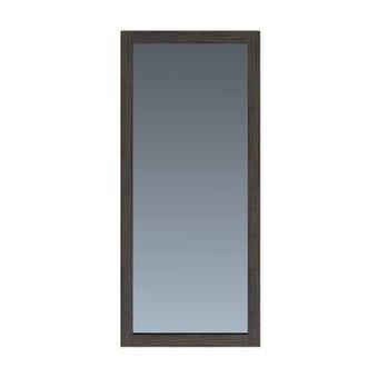 ชุดห้องนอน กระจกแบบแขวน รุ่น Bozzi สีสีเข้มลายไม้ธรรมชาติ-SB Design Square